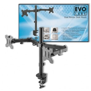 Evo Labs Double Monitor Arm Desk Mount