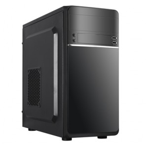 Cronus Leto Micro Tower 1 x USB 3.0 / 1 x USB 2.0 Black Case