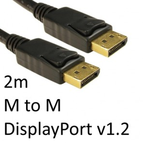 DisplayPort 1.2 (M) to DisplayPort 1.2 (M) 2m Black OEM Display Cable