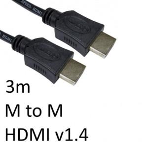 HDMI 1.4 (M) to HDMI 1.4 (M) 3m Black OEM Display Cable