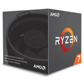 AMD Ryzen 7 2700X 3.7GHz Eight Core AM4 Socket Overclockable Processor with Wraith Spire with RGB LED