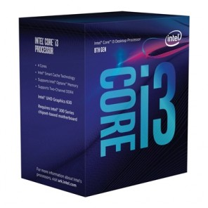 Intel i3 8100 Coffee Lake 3.6GHz Quad Core 1151 Socket Processor