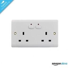 Energenie Mi|Home Smart Double White Socket