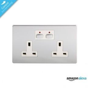 Energenie Mi|Home Smart Double Chrome Socket