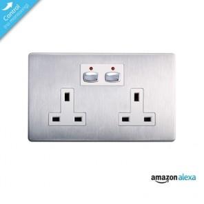 Energenie Mi|Home Smart Double Steel Socket